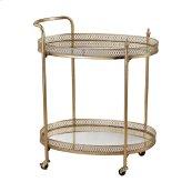 Banded Oval Bar Cart
