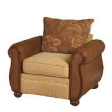 #594 Ava Butter 2/Gang Coffee Wicker/Rattan