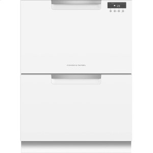 Double DishDrawer Dishwasher, 14 Place Settings - WHITE