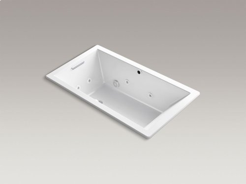 "Ice Grey 66"" X 36"" Drop-in Whirlpool + Bubblemassage Air Bath"