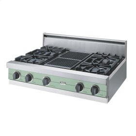 "Sage 36"" Open Burner Rangetop - VGRT (36"" wide, four burners 12"" wide char-grill)"