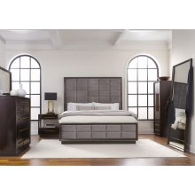 Smoked Peppercorn Eastern King Panel Bed