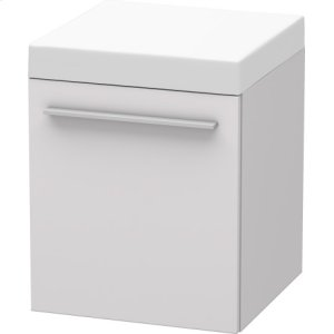 Mobile Storage Unit, White Lilac Satin Matt Lacquer