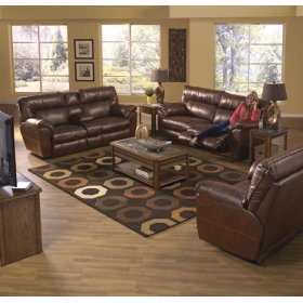 Power Extra Wide Cuddler Recliner - Chestnut