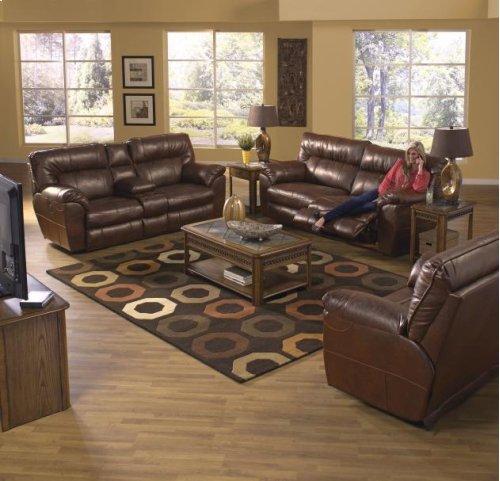 Extra Wide Reclining Sofa - Chestnut