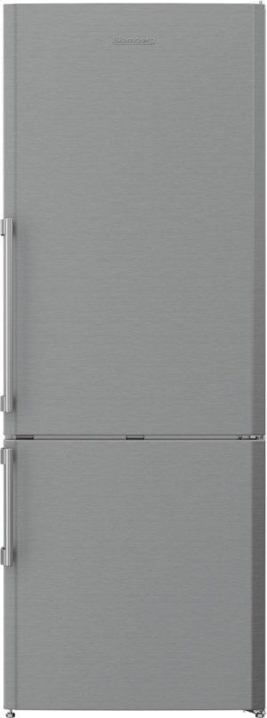 "27"" 15 cu ft bottom freezer fridge with auto ice maker, stainless"