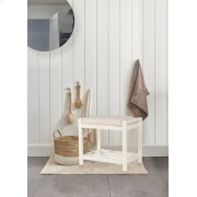 Amelia Wood Non-swivel Vanity Stool - White Product Image