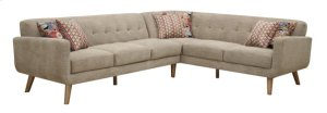 Left Side Facing Sofa W/2 Pillows