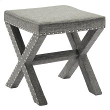 Zeno Single Ottoman in Light Grey
