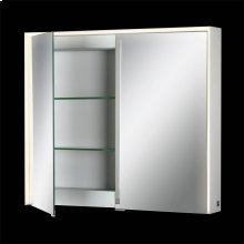 DOUBLE DOOR CCT EDGE LIT MIRROR CABINET - Mirror
