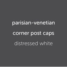 Parisian Caps (4) Distressed White