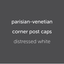 Parisian Caps (4) Distressed White