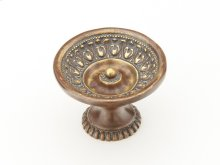 "Solid Brass, Symphony, Chalice, Round Knob, 1-9/16"" diameter, Monticello Brass finish"