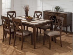 Tuscon Dining Table With Tri-color Tile Top