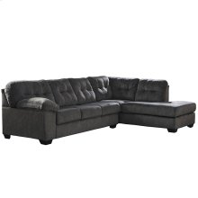 Signature Design by Ashley Accrington 2-Piece Left Side Facing Sofa Sectional in Granite Microfiber [FSD-1339SEC-2LAFS-GRT-GG]