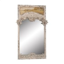 Carved Trumeau Mirror