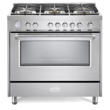 "Stainless Steel 36"" Designer Gas Range"