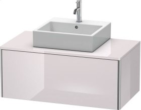 Vanity Unit For Console Wall-mounted, White Lilac High Gloss Lacquer