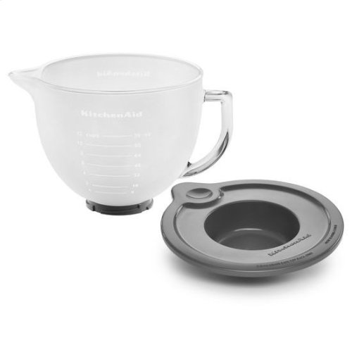 KitchenAid® 5-Qt. Tilt-Head Frosted Glass Bowl with Measurement Markings & Lid - Other