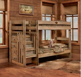 Twin/Twin Complete Stairstep Bunkbed