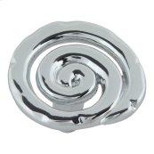 Scroll Knob 1 1/2 Inch - Polished Chrome