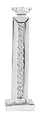 Modern pillar candleholder in clear Product Image