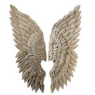 Whitewash Gold Angel Wing Wall Decor (2 asstd). Product Image