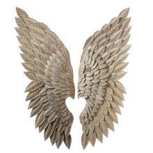 Whitewash Gold Angel Wing Wall Decor (2 asstd).