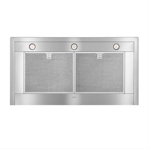 """42"""" Brushed Stainless Steel Wall Mount Chimney Hood with Internal 600 CFM Blower"""