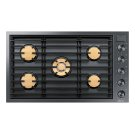 """Modernist 36"""" Gas Cooktop, Graphite Stainless Steel, Natural Gas Product Image"""
