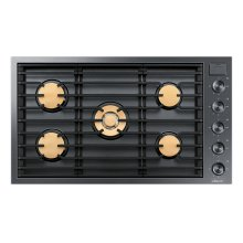 "Modernist 36"" Gas Cooktop, Graphite Stainless Steel, Natural Gas"