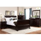 CAL KING SLEIGH PLATFORM BED W/RAIL STORAGES Product Image