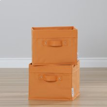 Canvas Baskets, 2-Pack - Orange