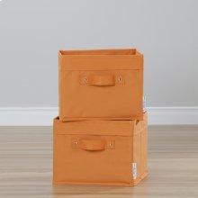 Canvas Baskets, 2-Pack - Orange