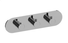 M.E. M-Series Valve Horizontal Trim with Three Handles