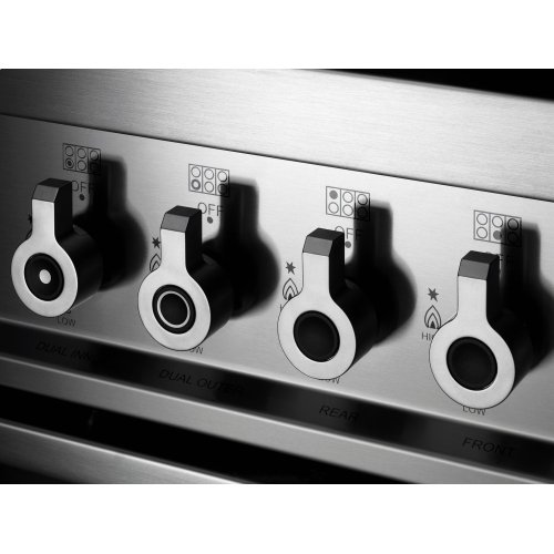 48 6-Burner + Griddle, Electric Self-Clean Double Oven Black