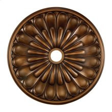 Melon Reed Medallion 32 Inch in Antique Bronze Finish
