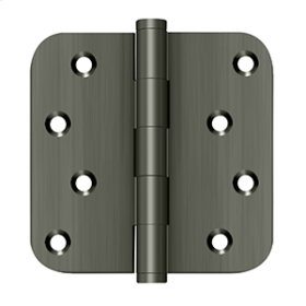"4""x 4""x 5/8"" Radius Hinge / Zig-Zag - Antique Nickel"