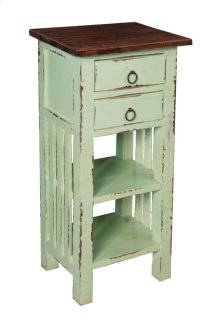 CC-TAB170TLD-BHRW  Cottage End Table with Drawers and Shelves