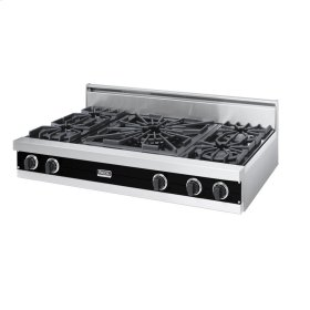 "Black 48"" Open Burner Rangetop - VGRT (48"" wide, four burners 24"" wide wok/cooker)"