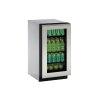 "U-Line 2000 Series 18"" Glass Door Refrigerator With Integrated Frame Finish And Field Reversible Door Swing (115 Volts / 60 Hz)"