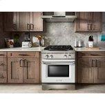 Kitchenaid Kitchenaid® 30'' 4-Burner Dual Fuel Freestanding Range, Commercial-Style - Imperial White