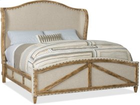 Roslyn County Cal King Deconstructed Uph Panel Bed