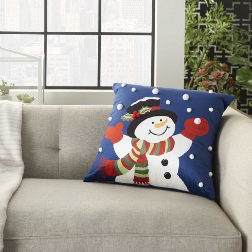 "Home for the Holiday L8528 Multicolor 18"" X 18"" Throw Pillows"