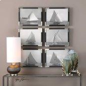 Sailboats Framed Prints, S/6
