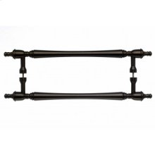 Somerset Finial Door Pull Back to Back 12 Inch (c-c) - Oil Rubbed Bronze