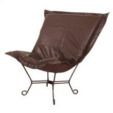 Scroll Puff Chair Avanti Pecan Mahogany Frame