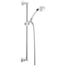 White Fundamentals 2-Setting Slide Bar Hand Shower