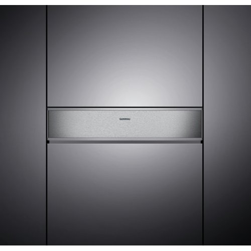 """400 series 400 series vacuuming drawer Stainless steel-backed glass front Width 24"""" (60 cm), Height 8 3/16"""" (21 cm)"""