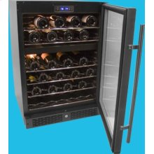 46-Bottle Capacity Built-In or Freestanding Dual Zone Dual Storage Compartment Wine Cellar